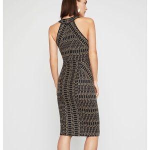 BCBGMaxAzria Dresses - BCBG pyramid jacquard dress XS